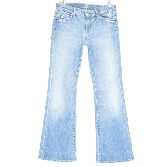7 For All Mankind Denim - 7 For All Mankind jeans 30 x 30 Flare destroyed US